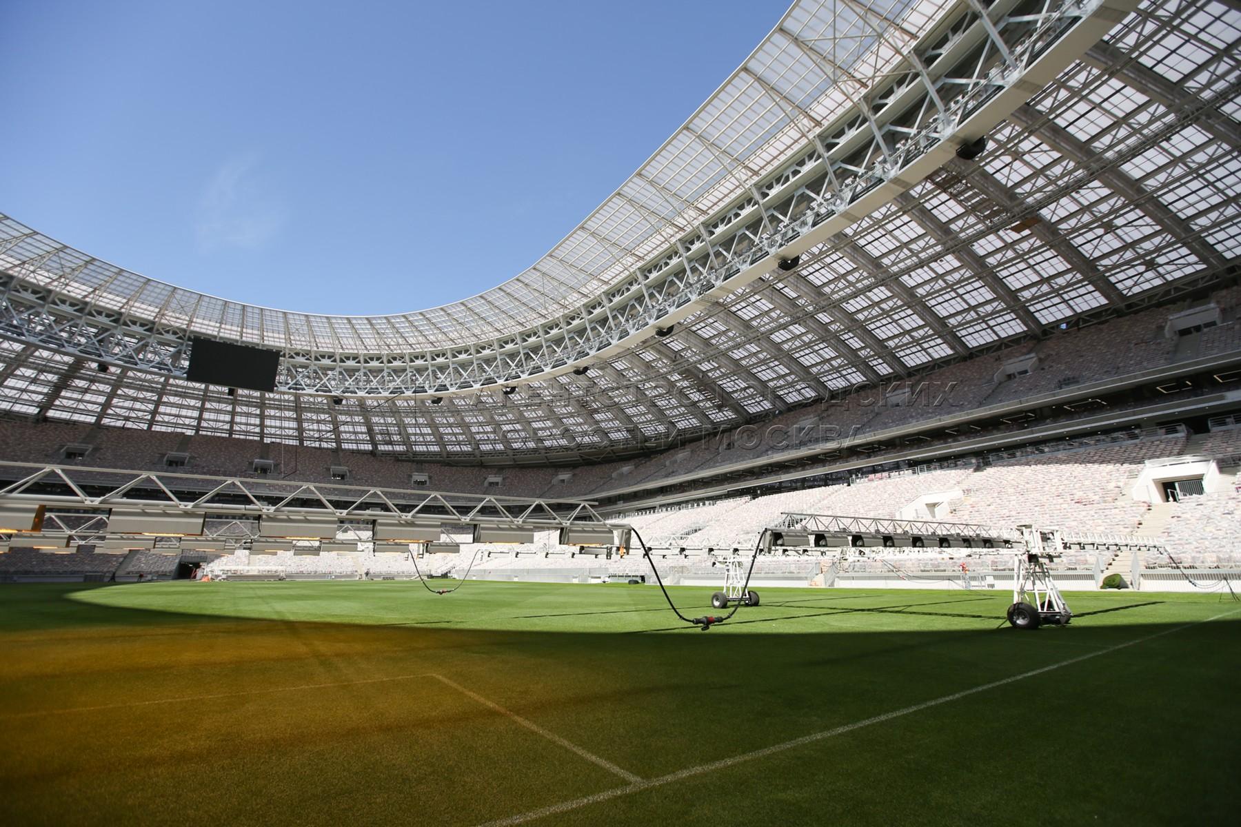 Автор: Зыков Кирилл. Главный стадион чемпионата мира по футболу 2018 года - большая спортивная арена «Лужники».