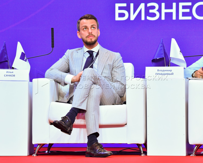Московский предпринимательский форум в рамках Московской недели предпринимательства в Центральном выставочном зале «Манеж».