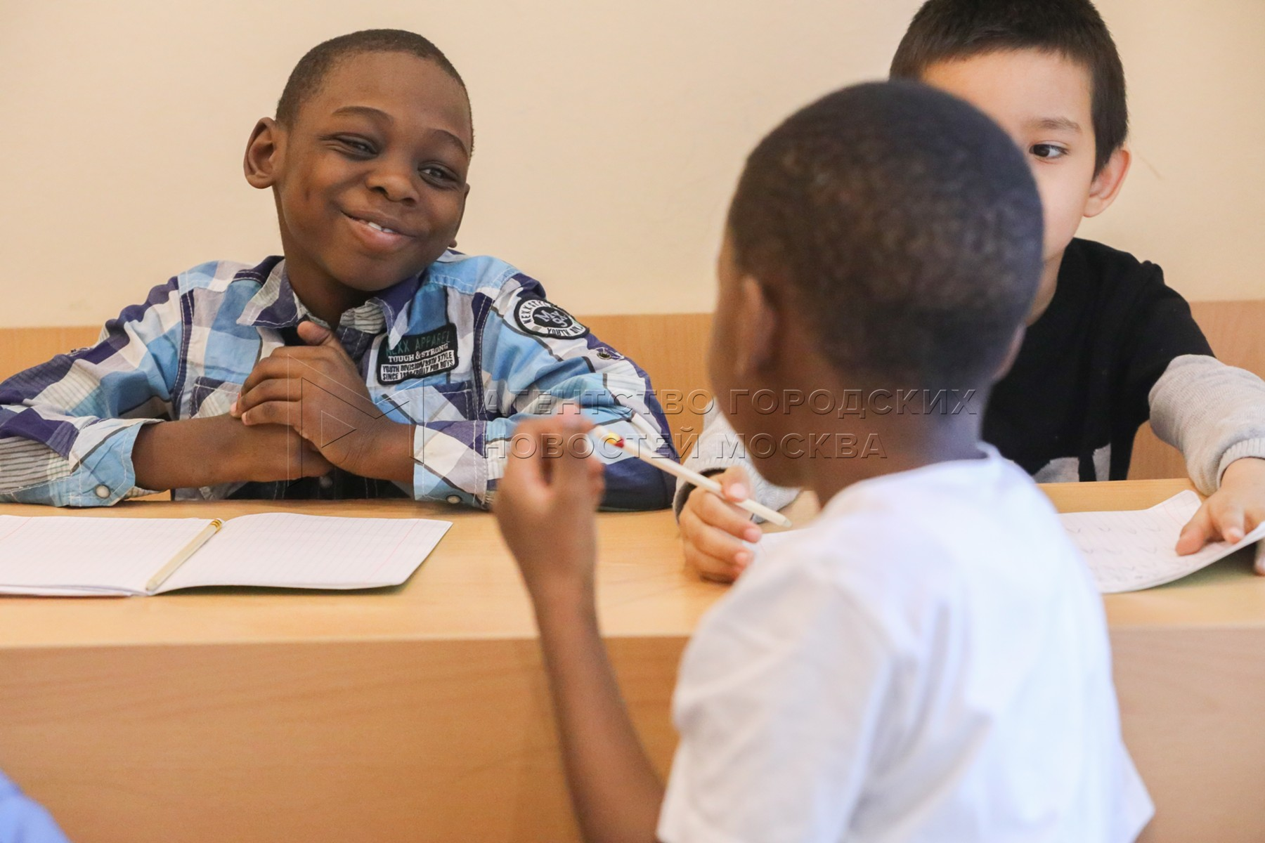 Школа русского языка для детей мигрантов при храме преподобной Евфросинии Московской.