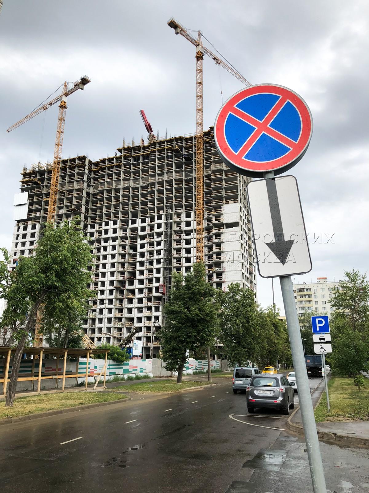 Строительство на ул. Константина Федина двух домов по программе реновации жилфонда в Москве.