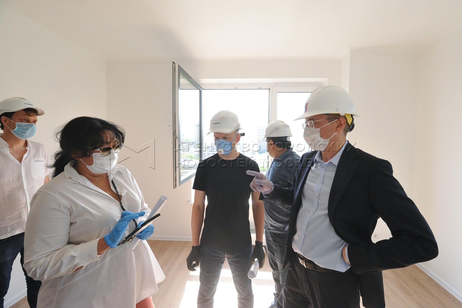 Показ жилого дома для переселения по программе реновации на Профсоюзной улице