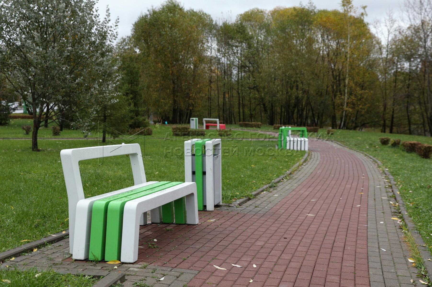 Парк в пойме реки Битцы в районе Северное Бутово.
