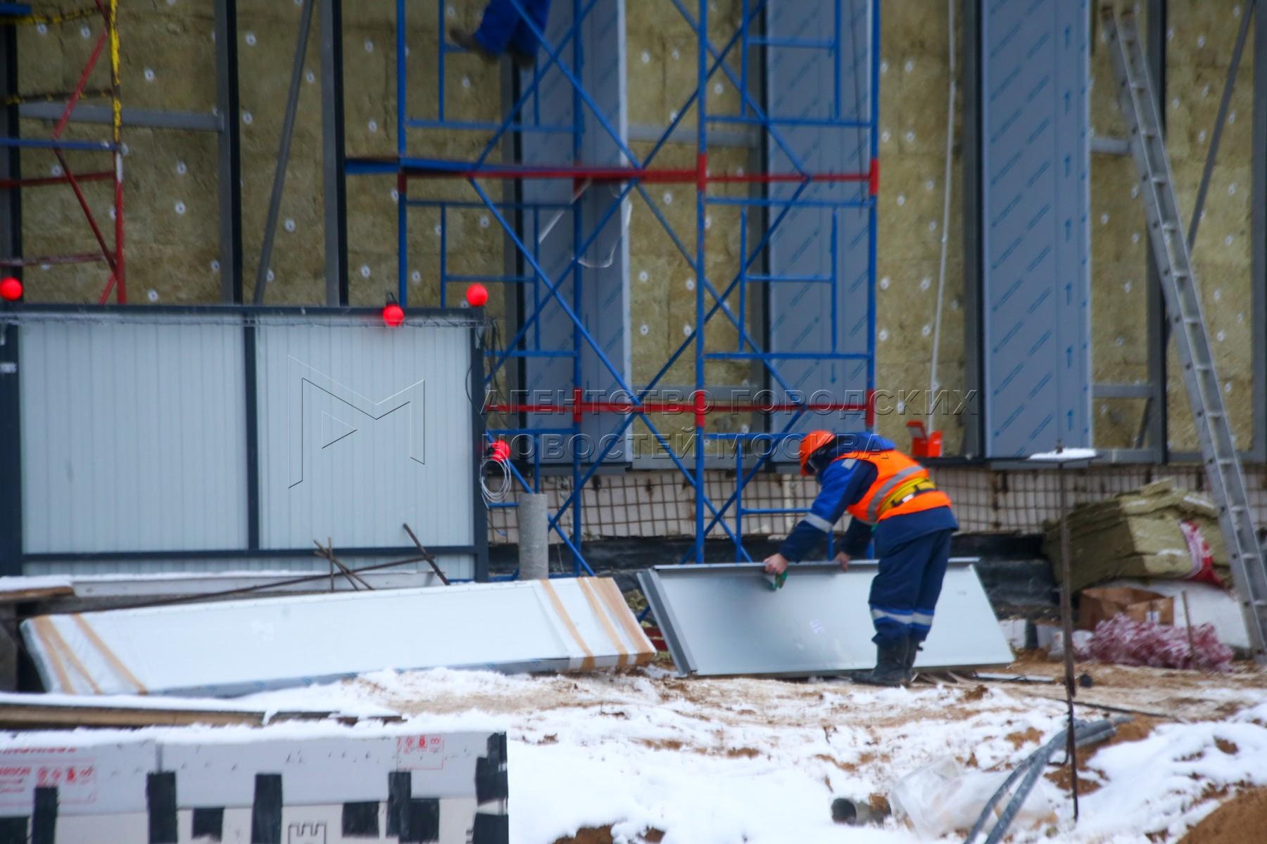 Ход работ по строительству станции метро «Электрозаводская» Большой кольцевой линии.