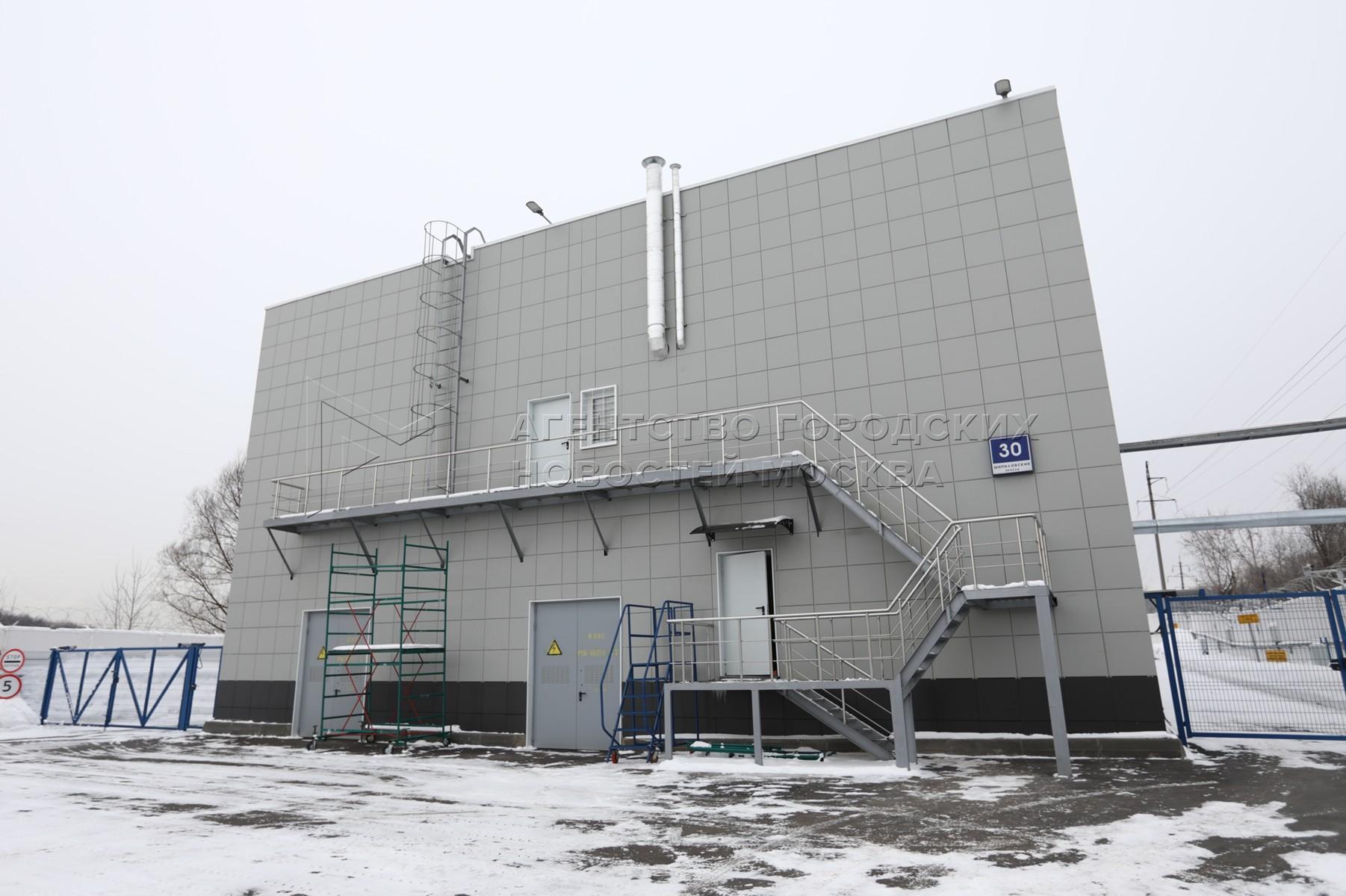 Работа насосно-перекачивающей станции «Бирюлево-Борисовская» в Шипиловском проезде, в условиях пиковых температур.